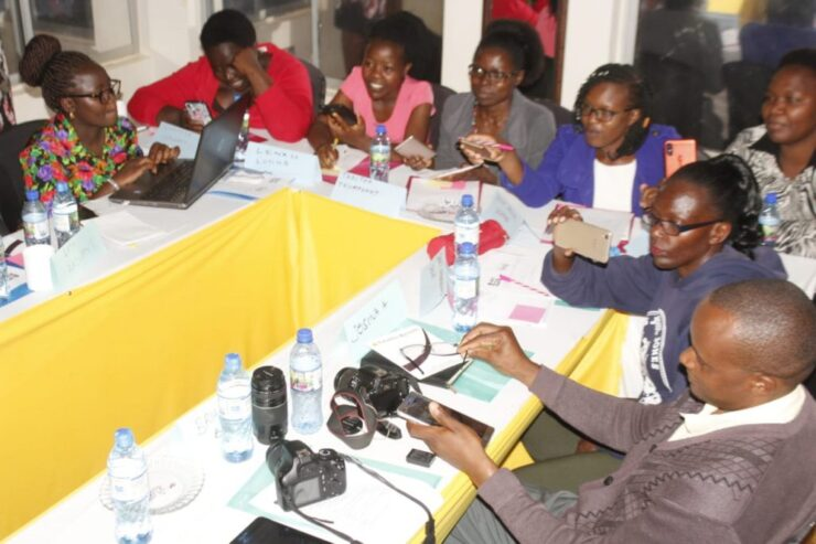 Kisii County Journalists during the training